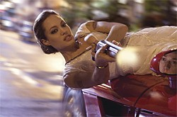 CHUCK HODES - Angelina Jolie plays a lithe hottie with a knack for zigzag marksmanship.