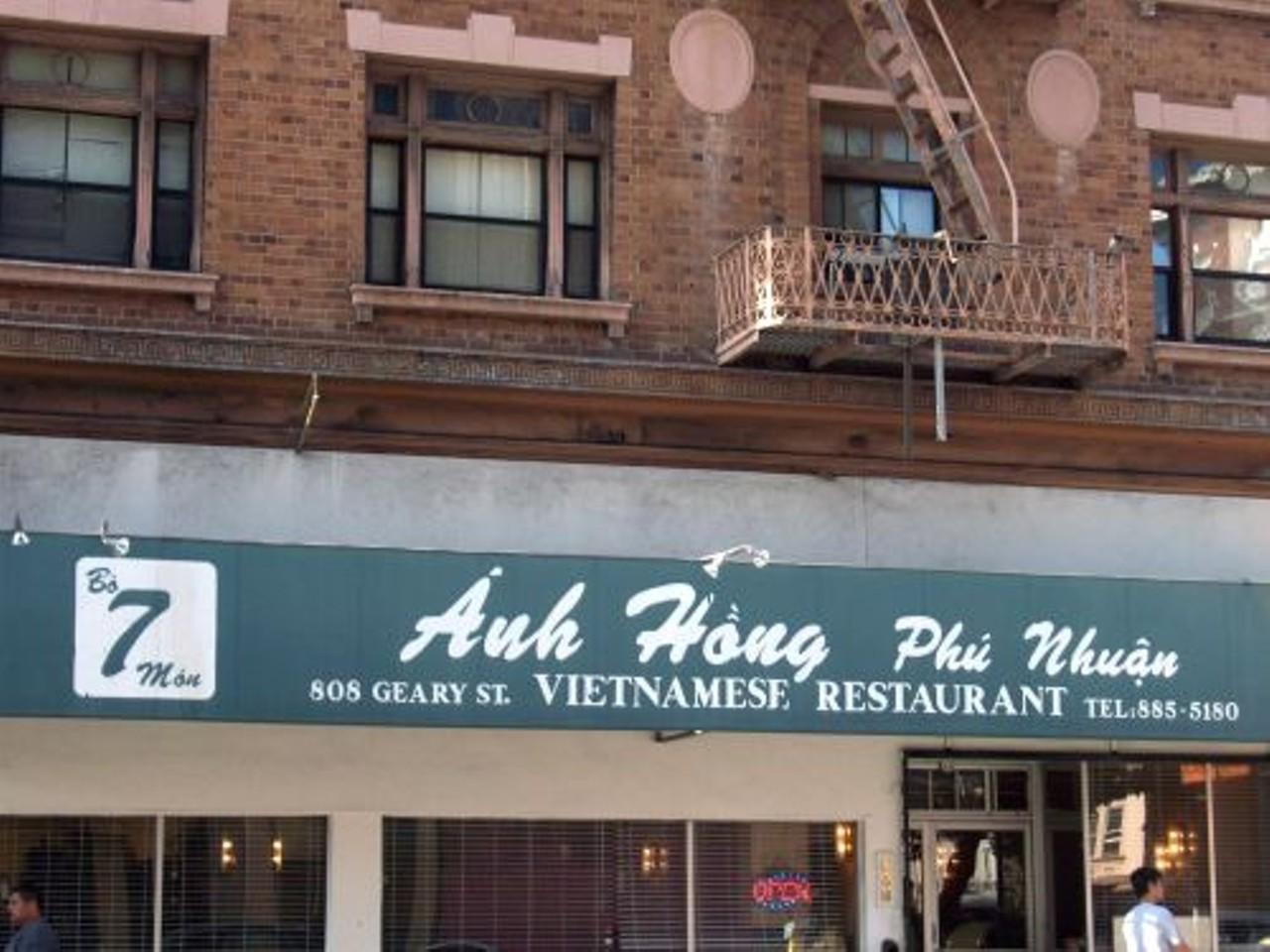 Anh Hong Restaurant Hayes Valley Tenderloin Vietnamese