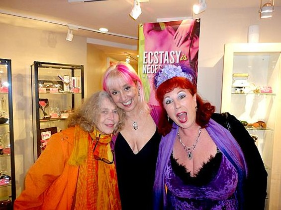 Annie Sprinkle (right) was among those helping Barbara Carrellas (center) search for ways to reclaim sexuality in the hysteria of the AIDS crisis.