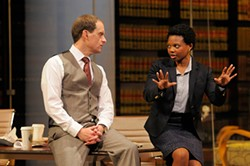 KEVIN BERNE - Anthony Fusco and Susan Heyward in Mamet's Race.