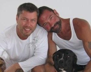 Anthony Makk, left, with husband Bradford Wells