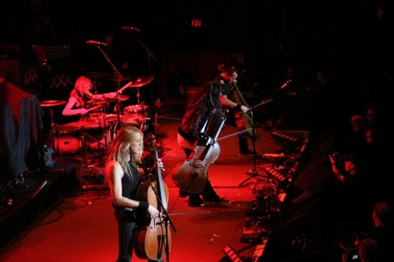 Apocalyptica onstage at the Fillmore.