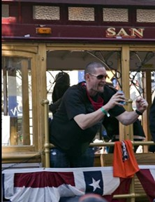 Are Aubrey Huff -- and his beer and Rally Thong -- headed to San Jose's festivities? - ALAN ESKENAZI