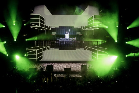 Armin van Buuren at the Fox Oakland Sunday night. - GIL RIEGO, JR.
