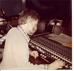 PHOTO COURTESY OF  ARNE FRAGER - Arne Frager at Spectrum Studios, circa 1979.