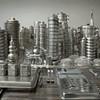 Artist sculpts San Francisco with pots and pans