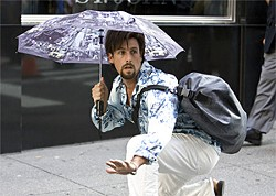 As Zohan, Sandler displays his trademark combination of shock tactics and sweetness.