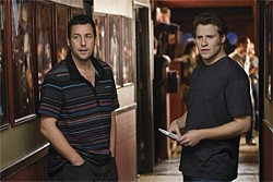 TRACY BENNETT - Aspiring comic Ira Wright (Seth Rogen, right) gets a big break writing for movie star George Simmons (Adam Sandler).