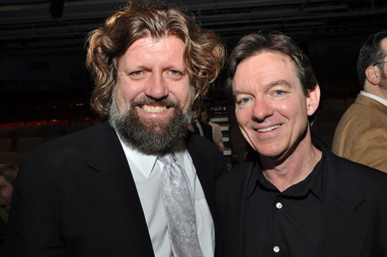 At Berkeley Rep, author Lawrence Wright and director Oskar Eustis (left) present the world premiere of Fallaci. - PHOTOGRAPHERS: STEVE AND ANITA SHEVETT