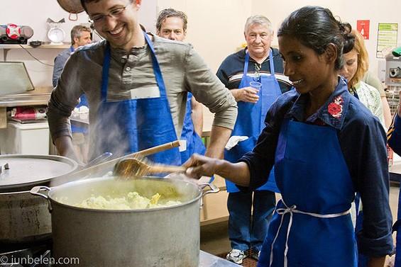 Azalina Eusope, leading a cooking class at La Cocina earlier this year. - JUN BELEN