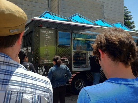 Bacon Bacon Truck, as sighted from the back of the mosh pit. - JONATHAN KAUFFMAN