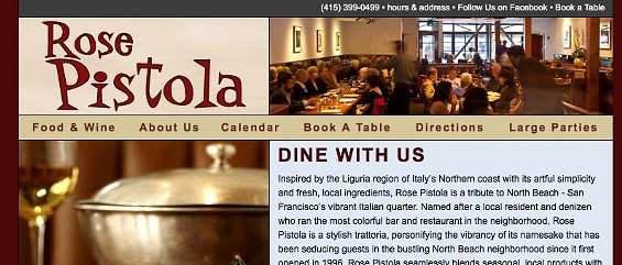 Bad restaurant sites make people click through for the address.