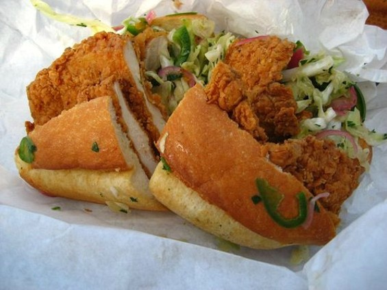 Bakesale Betty's Fried Chicken Sandwich boasts its own cult following in Oakland. - YELP/ANN L.