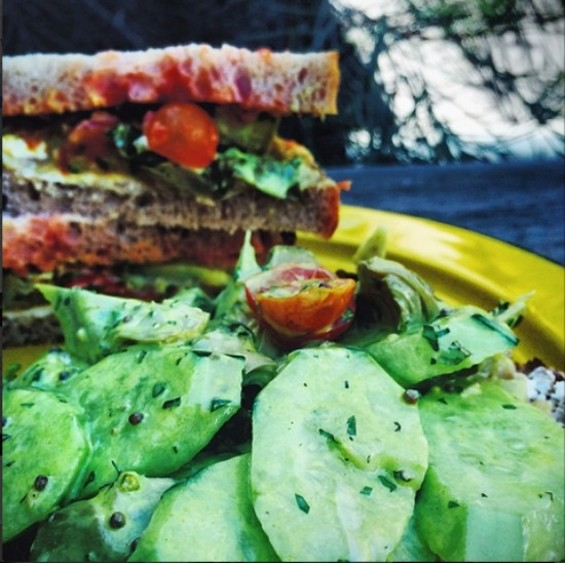 Bar Agricole's $6 sandwich.