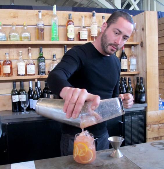 Bar manager Needham Woodward - LOU BUSTAMANTE