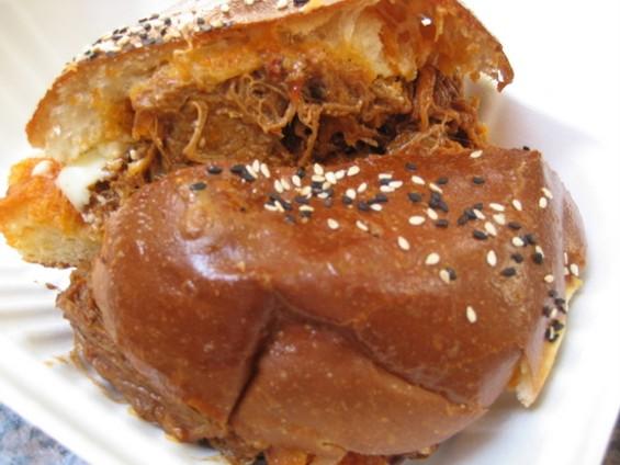 Barbecued short rib sandwich ($8.50).