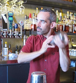 Barman and co-owner Matty Conway - LOU BUSTAMANTE