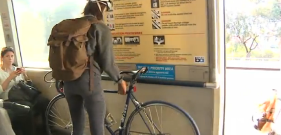 BART shows cyclists how not to be space-hogging pricks