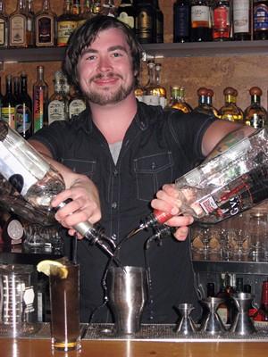 Bartender Dion Jardine.