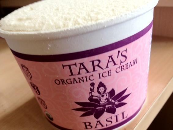 Basil frozen dessert by Tara's Organic Ice Cream. - TAMARA PALMER