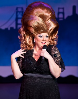 Beach Blanket Babylon's Tammy Nelson as Adele. Photo by Rick Markovich for BBB.