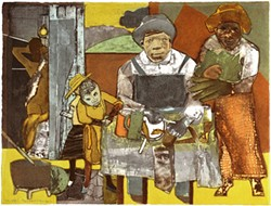 ROMARE BEARDEN - Bearden's work inspired public protest — in the artist's support.