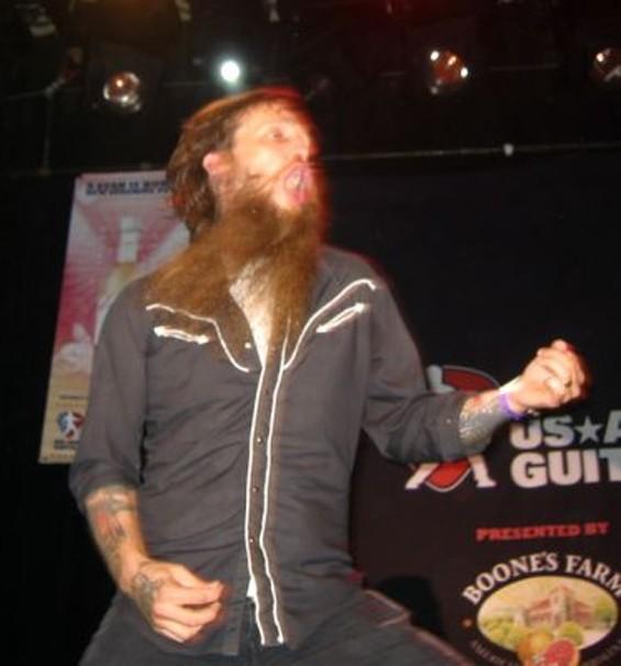 Beardo Weirdo shreds an air solo. - ANNA MCCARTHY