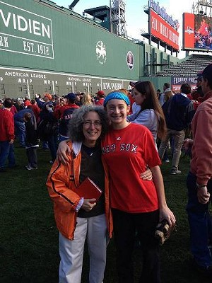 Becca Gorman (right) with one of her two moms.