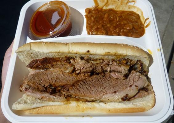 Beef brisket sandwich, $7.50. - ALEX HOCHMAN