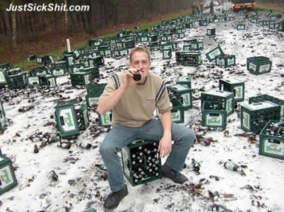 Beer truck mishaps aren't always so funny