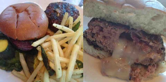 Before and after: Epic Roasthouse's Explosion Burger. - TAMARA PALMER