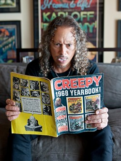 PHOTOS BY SUGARWOLF - Before guitar and heavy metal, stories of ghouls and gloom were Hammett's first passion.
