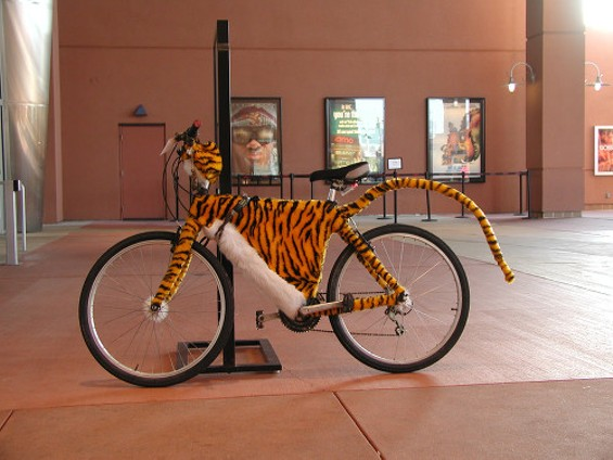 Behold the Tigerbike: with a fully functioning tail. - DAN SENERES