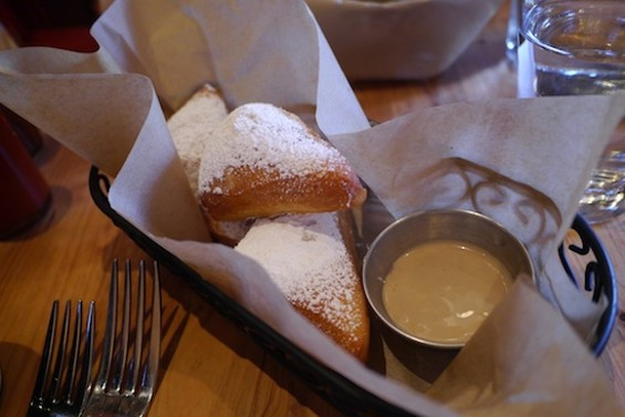 Beignets with chocolate-espresso cream