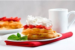 Belgian Waffles at Pinecrest Diner