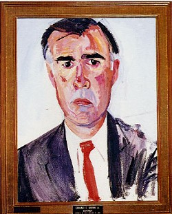 Believe it or not, this is Jerry Brown's official gubernatorial portrait. It was strange back then, too.