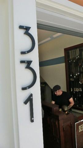 Bernal Cutlery's Josh Donald was one of six vendors who set up at 331 Cortland. - KELLY KOZAK