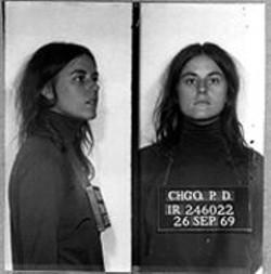 Bernardine Dohrn's 1969 mug shot.