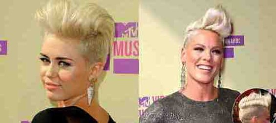 Best Comedy Duo: Miley Cyrus and Pink.