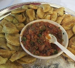 Better than fish: Butternut squash empanadas from Greens. - SARAH KERMENSKY