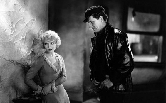 Betty Compson and George Bancroft in The Docks of New York