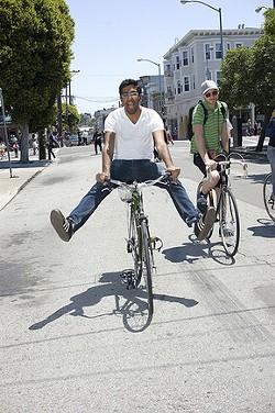 Bicyclists galore - DUSTIN JENSEN