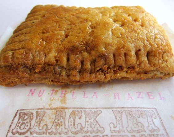 Black Jet Bakery's Nutella-hazelnut hand pie. - JONATHAN KAUFFMAN