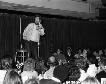 Bob Rubin at the Punch Line Comedy Club in the 1980s - COURTESY PHOTO