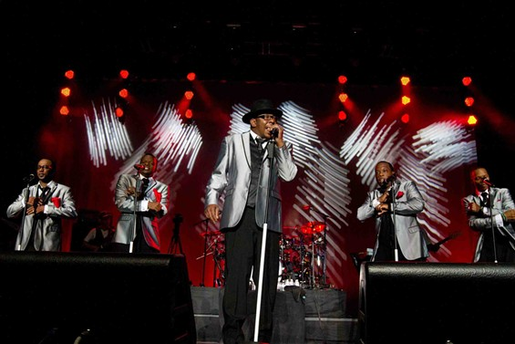 Bobby Brown leads New Edition at Oracle Arena. - DOUGLAS ZIMMERMAN