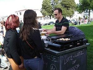 Boitano's cheesiness hit the street-food scene Sunday. - T. PALMER