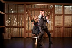 PAK HAN - Bonnie and Clyde, featuring Megan Trout and Joe Estlack and finger guns.