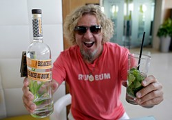 AP PHOTO/LYNNE SLADKY - Booze empresario and guitar noodler Sammy Hagar