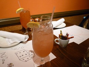 Both important: Pink Meyer lemonade and coloring. - ALEX HOCHMAN