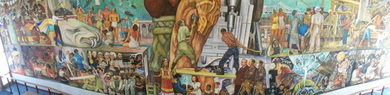 Tourism for locals diego rivera mural satisfies the eyes for Diego rivera pan american unity mural